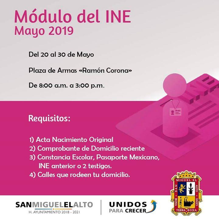 Modulo Del Ine Mayo 2019 San Miguel El Alto Jalisco